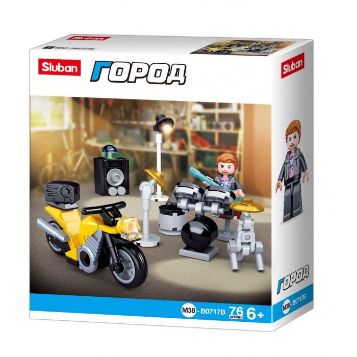 Конструкторы Sluban Город Мотоцикл (76 деталей) sluban конструктор sluban город гоночный мотоцикл 60 деталей