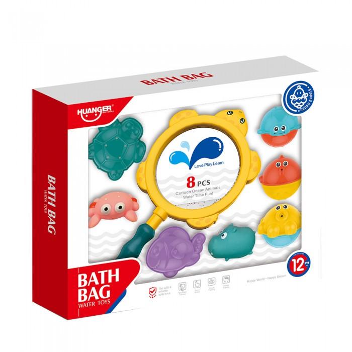 Купить Игрушки для ванны, Haunger Набор игрушек для ванной Морские обитатели 8 шт.
