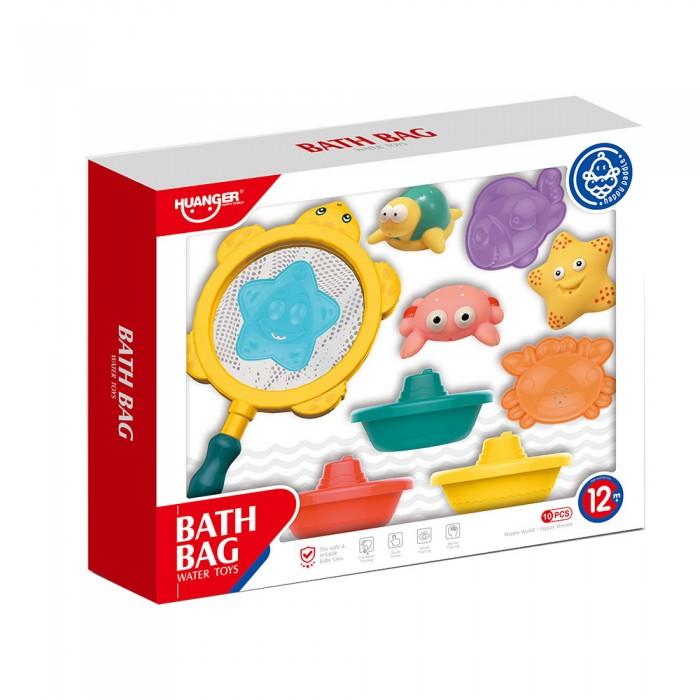 Фото - Игрушки для ванны Haunger Набор игрушек для ванной Морские обитатели и кораблики 10 шт. набор игрушек пома для купания гонки 4 шт