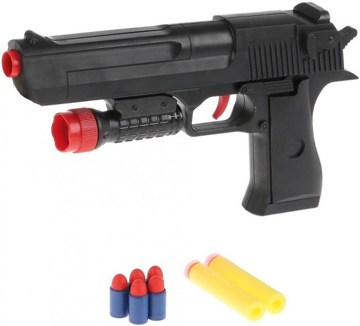 Картинка для Игрушечное оружие Играем вместе Пистолет с мягкими и пластиковыми пулями