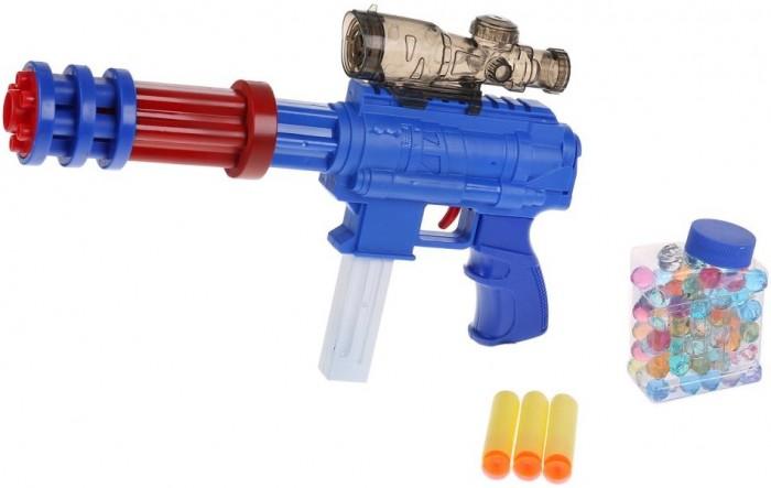 Фото - Игрушечное оружие Играем вместе Бластер с мягкими и гелевыми пулями B1515890-R игрушечное оружие играем вместе бластер стреляющий шариками по кеглям