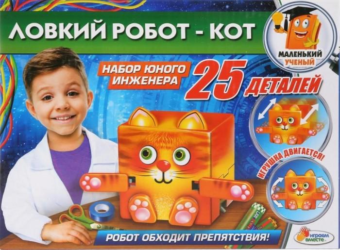 Наборы для опытов и экспериментов Играем вместе Набор юного инженера Ловкий робот - кот