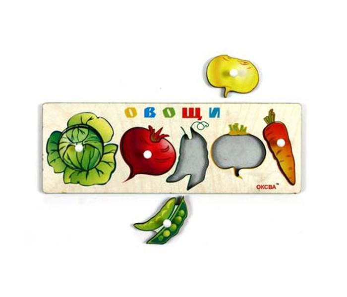 Деревянные игрушки Оксва Доска Сегена Овощи-1