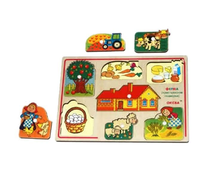 Деревянные игрушки Оксва Доска Сегена Ферма Крестьянское подворье