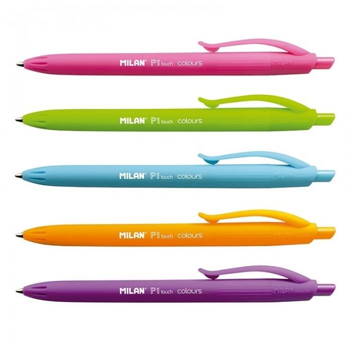 цена на Канцелярия Milan Ручки шариковые P1 Touch Colours 1.0 мм 4 цвета 5 шт. BWM10303