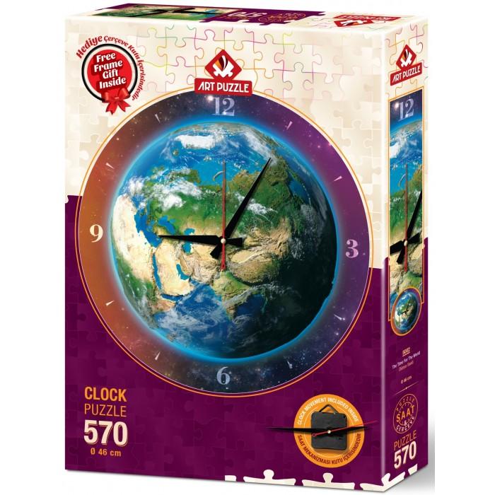 Art Puzzle Часы-пазл Время для мира (570 деталей)