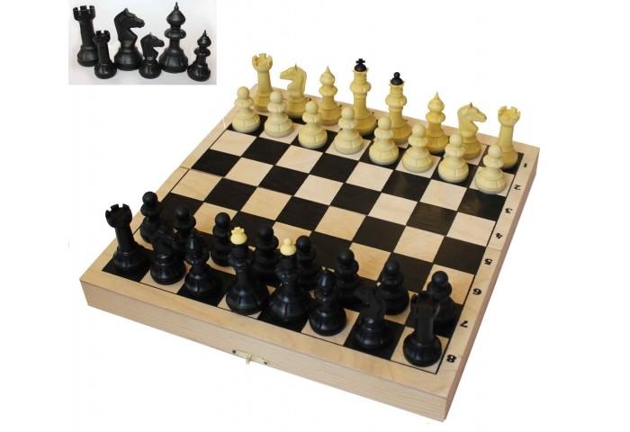 Настольные игры ВладСпортПром Настольная игра Шахматы с шахматной доской 40х40 см