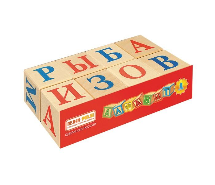 Деревянные игрушки Пелси Кубики Алфавит 8 шт. кубики scratch giant stacking tower farm от 3 лет 5 шт