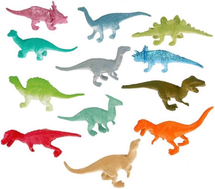 Игровые фигурки Играем вместе Игрушка пластизоль Динозавры 806C-1 игрушка пластизоль играем вместе динозавры 5см 8ассорти 2скелета туба высокая в кор 6 24шт
