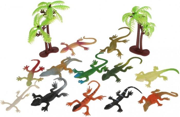Игровые фигурки Играем вместе Игрушка пластизоль Ящерицы игрушка пластизоль играем вместе динозавры 5см 8ассорти 2скелета туба высокая в кор 6 24шт