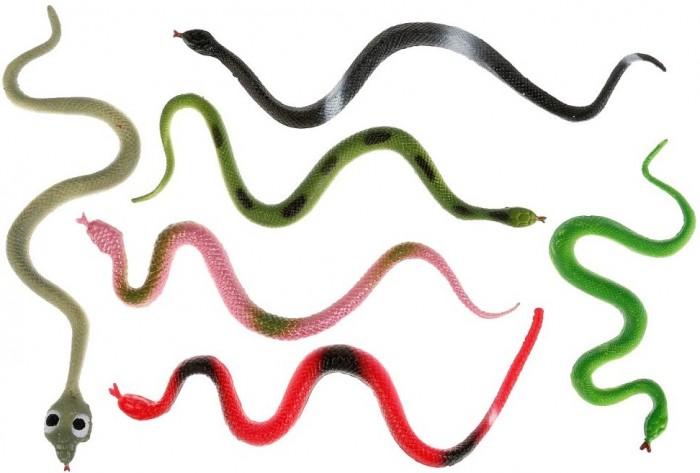 Игровые фигурки Играем вместе Игрушка пластизоль Змеи игрушка пластизоль играем вместе динозавры 5см 8ассорти 2скелета туба высокая в кор 6 24шт