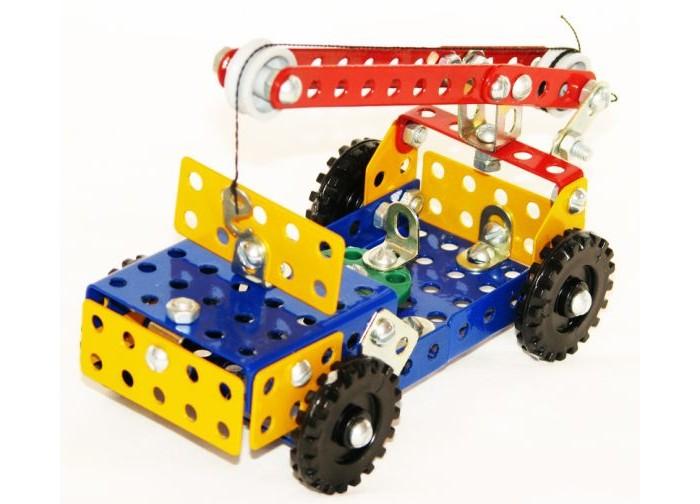 Конструкторы Самоделкин металлический Юниор цветной 19 моделей конструктор металлический самоделкин с 30 цветной самоделкин
