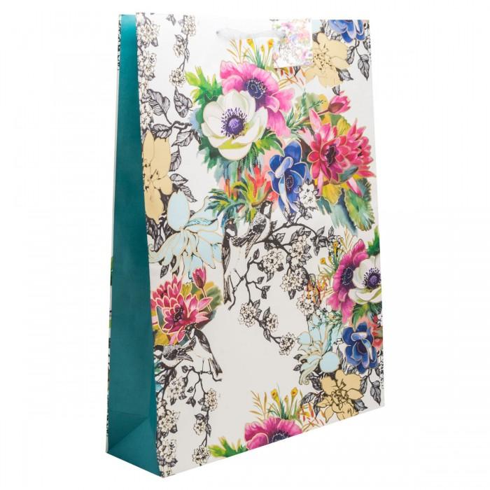 Товары для праздника Winter Wings Пакет подарочный бумажный крафт с тиснением 33х45 см