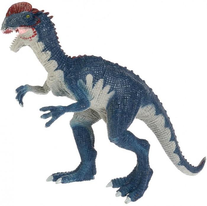 Игровые фигурки Играем вместе Игрушка пластизоль Динозавр Дилофозавр 26х9х18 см игрушка пластизоль играем вместе динозавры 5см 8ассорти 2скелета туба высокая в кор 6 24шт