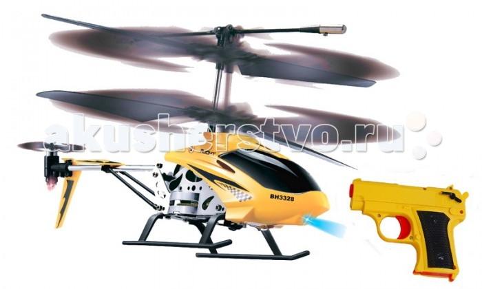 Властелин небес Вертолет СнайперВертолет СнайперЗамечательная игра для двух участников! Входящий в набор вертолет из серии Турбо, достаточно скоростной и маневренный для того, чтобы стать любимой игрушкой! Управление его осуществляется с помощью инфракрасного пульта.   Дальность полета - до 15 м.  Вертолет оснащен встроенным гироскопом который помогает добиться хорошей стабилизации во время полета. А еще на его корпусе вы увидите яркие полетные огни, которые добавляют эффектности и реалистичности процессу игры.  А так же в наборе есть пистолет, стреляющий инфракрасным лучом. Цель игрока - сбить вертолет, это возможно лишь только после трех метких выстрелов. Учитывая скорость и маневренность вертолета - задача не так проста, как кажется.  Но в случае успеха за состояние вертолета можно не опасаться - он выполнен из легкого, но прочного пластика, а лопасти при падении складываются автоматически. С такими характеристиками эта игра не нуждается в дополнительной рекламе.  Размеры вертолета: ДхВхШ 180х90х40.  ТМ Властелин Небес - первая российская торговая марка в сегменте радиоуправляемых вертолетов и самолетов, зарегистрирована в марте 2005 года. Игрушки Властелин Небес имеют стильную упаковку с подробной инструкцией на русском языке. Серия вертолетов Властелин Небес Серия турбо является лауреатом Национальной премии в сфере товаров и услуг для детей Золотой медвежонок 2011. Властелин Небес - лучшее из того, что летает. Властелин Небес осуществляет бесплатное обслуживание и ремонт игрушек в течение всего срока их эксплуатации.<br>