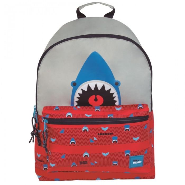 Сумки для детей Milan Рюкзак школьный Shark Attack 41х30х18 см 624605SRT рюкзак школьный beifa 38х30х16 см сине зеленый