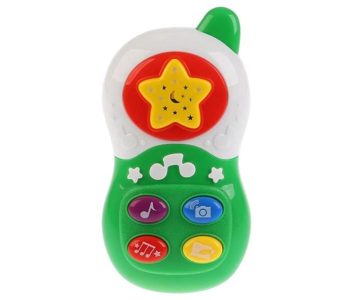 Картинка для Электронные игрушки Умка Телефон с проектором и колыбельными песнями