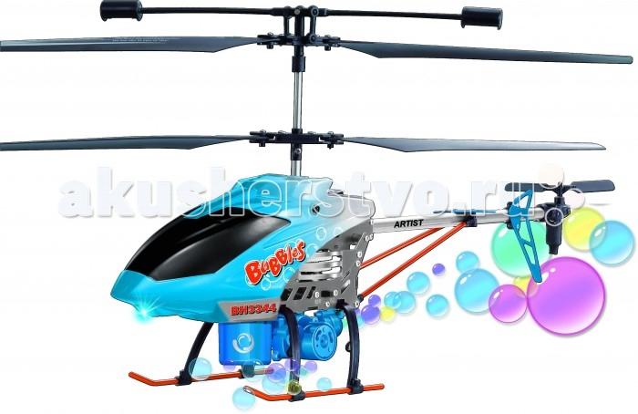 Властелин небес Вертолет р/у АртистВертолет р/у АртистРадиоуправляемый вертолет Артист с гироскопом для стабилизации полёта, с функцией выдувания мыльных пузырей в полете.   Яркие полетные огни. Турбо-ускорение.  В комплекте две лопасти и два задних винта, емкость для залива мыльной пены, зарядное устройство.  Дальность полета до 50 метров.  Частота управления 27 и 40 Mhz.  Размер вертолета: ДхШхВ 380 х 80 х 200 мм.  ТМ Властелин Небес - первая российская торговая марка в сегменте радиоуправляемых вертолетов и самолетов, зарегистрирована в марте 2005 года. Игрушки Властелин Небес имеют стильную упаковку с подробной инструкцией на русском языке. Серия вертолетов Властелин Небес Серия турбо является лауреатом Национальной премии в сфере товаров и услуг для детей Золотой медвежонок 2011. Властелин Небес - лучшее из того, что летает. Властелин Небес осуществляет бесплатное обслуживание и ремонт игрушек в течение всего срока их эксплуатации.<br>