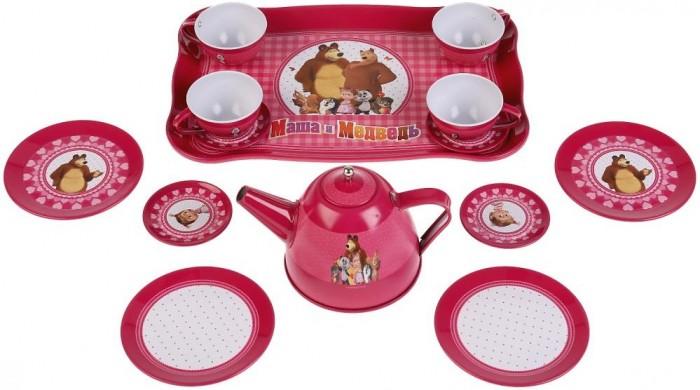 Играем вместе Набор посуды Маша и Медведь Чайный сервиз (15 предметов) от Играем вместе
