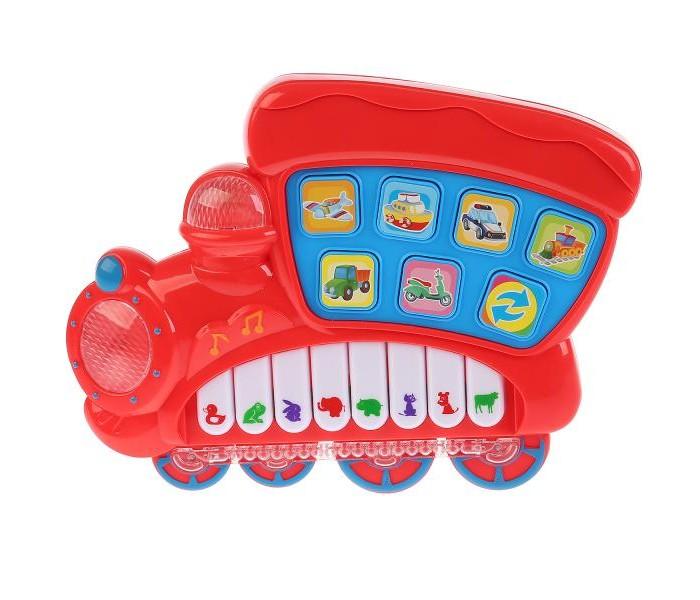 Купить Музыкальные инструменты, Музыкальный инструмент Умка Пианино-паровозик со стихами М. Дружининой