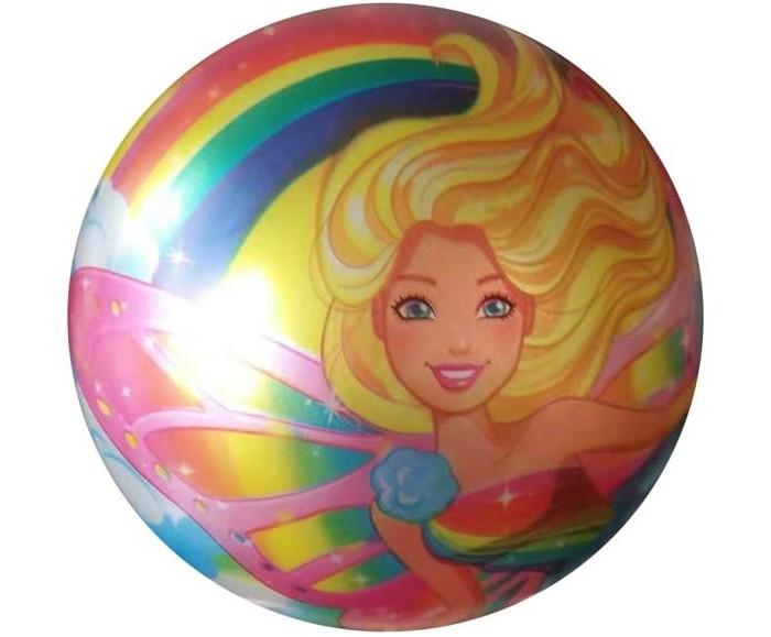 Мячики и прыгуны Играем вместе Мяч Барби с блеском 23 см