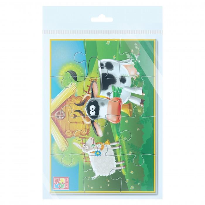 Пазлы Vladi toys Мягкие пазлы А5 Ферма (12 элементов)