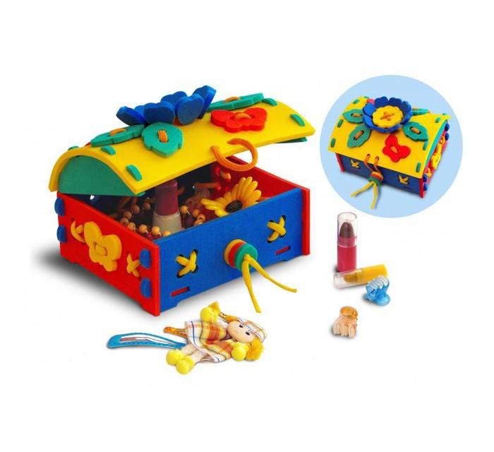 Развивающие игрушки Флексика Шнуровка Сундучок развивающие игры