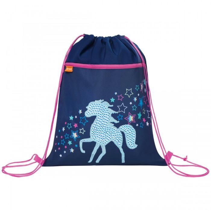 Картинка для Tiger Enterprise Мешок для обуви Earnest Rainbow Horse с карманом на молнии для девочек
