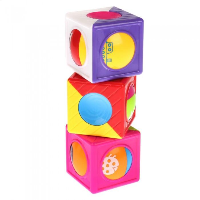 Фото - Развивающие игрушки Умка Пирамидка с 3-мя кубиками развивающая пирамидка теремок умка