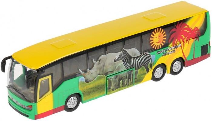 Технопарк Автобус инерционный со светом и звуком 18.5 см