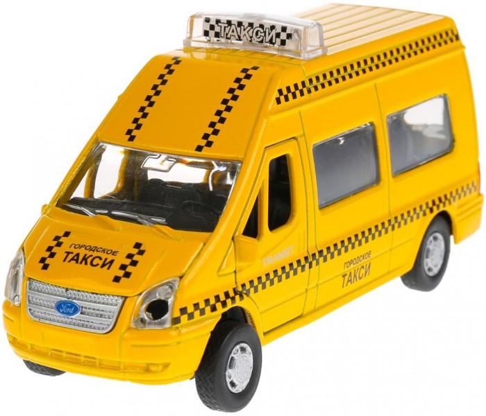 Купить Машины, Технопарк Машина инерционная со светом и звуком Ford Transit Такси