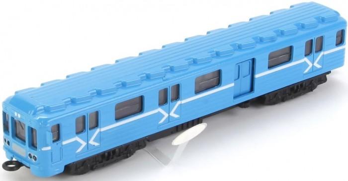 Купить Железные дороги, Технопарк Вагон метро инерционный со светом и звуком 18.5 см