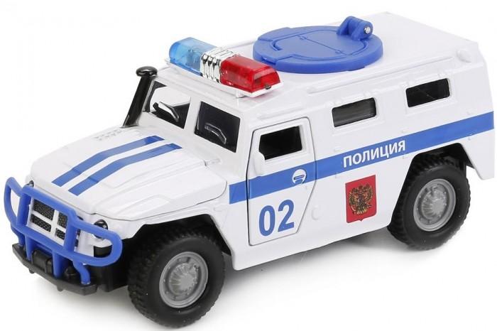 Машины Технопарк Машина инерционная со светом и звуком Газ Тигр Полиция 13.7 см машины технопарк инерционная машина спорткар со светом и звуком