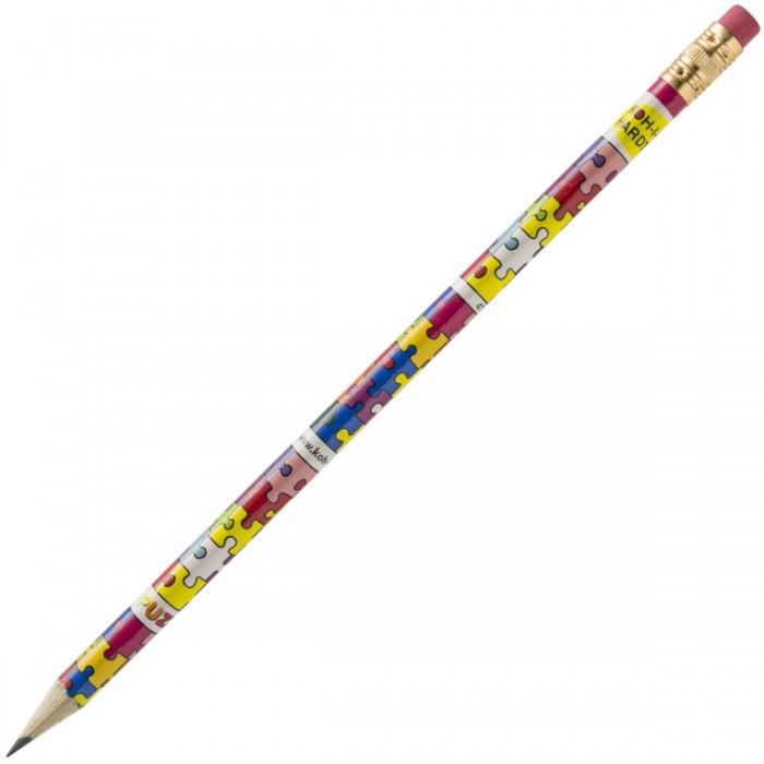 Карандаши, восковые мелки, пастель Koh-i-Noor Карандаш чернографитный Puzzle с ластиком НВ