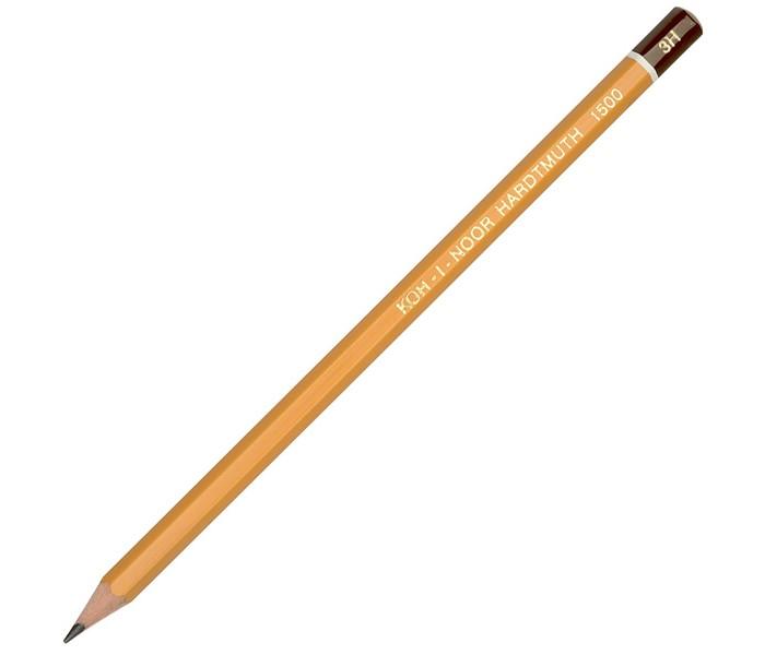 Карандаши, восковые мелки, пастель Koh-i-Noor Карандаш чернографитный 1500 3H карандаш чернографитный koh i noor 1500 2h деревянный лакированный корпус 1500 2h