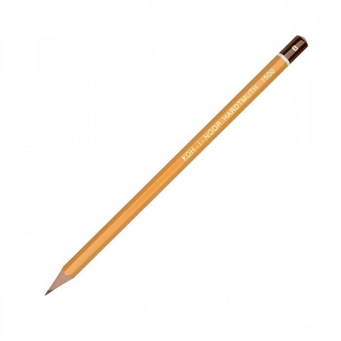 Карандаши, восковые мелки, пастель Koh-i-Noor Карандаш чернографитный 1500 B карандаш чернографитный koh i noor 1500 2h деревянный лакированный корпус 1500 2h
