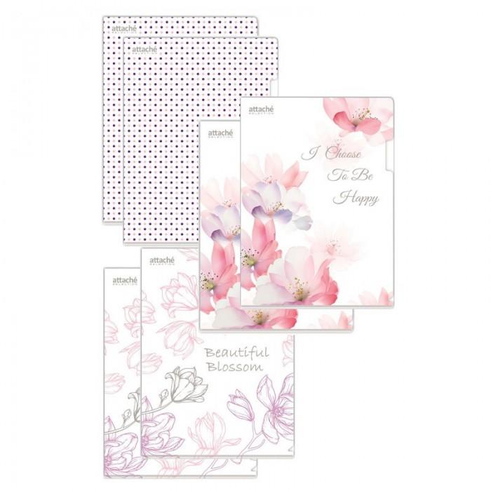 Канцелярия Attache Папка уголок Flower Dreamsассорти 6 шт.
