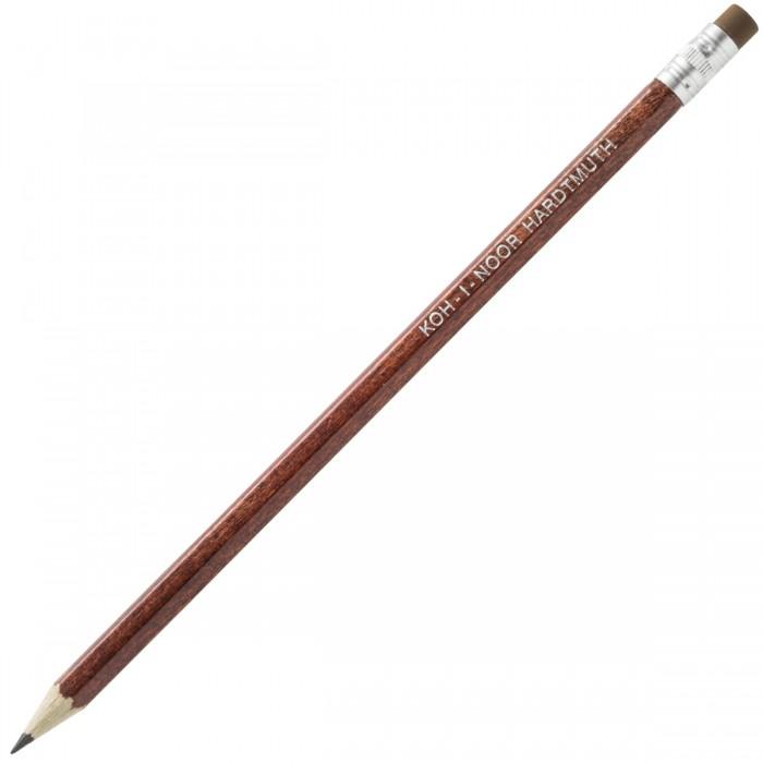 Карандаши, восковые мелки, пастель Koh-i-Noor Карандаш чернографитный с ластиком НВ 2
