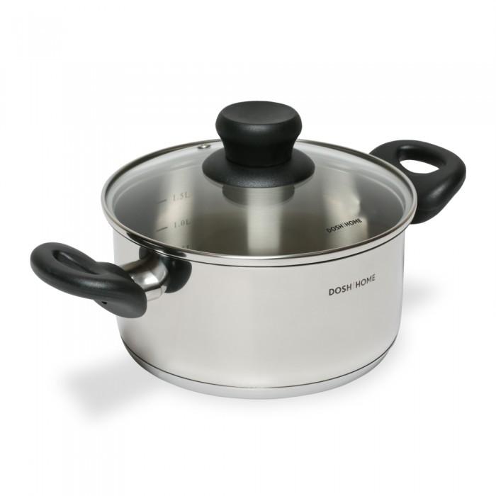 Купить Посуда и инвентарь, DOSH | HOME Кастрюля Taurus с крышкой 18 см 2 л