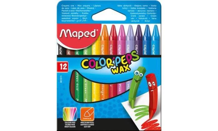 Карандаши, восковые мелки, пастель Maped Мелки восковые Color Peps Wax 12 шт. play doh мелки восковые пальчиковые 4 шт