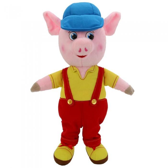 Купить Мягкие игрушки, Мягкая игрушка Мульти-пульти Поросенок в комбинезоне и кепке 26 см
