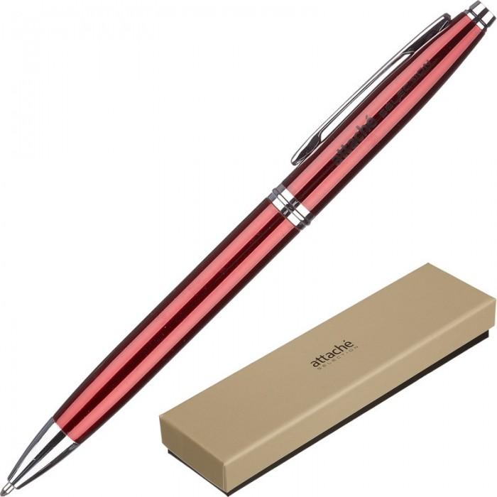 Канцелярия Attache Selection Ручка шариковая Rubine канцелярия lejoys ручка шариковая с колпачком в корпусе из бамбука черная 13 5 см