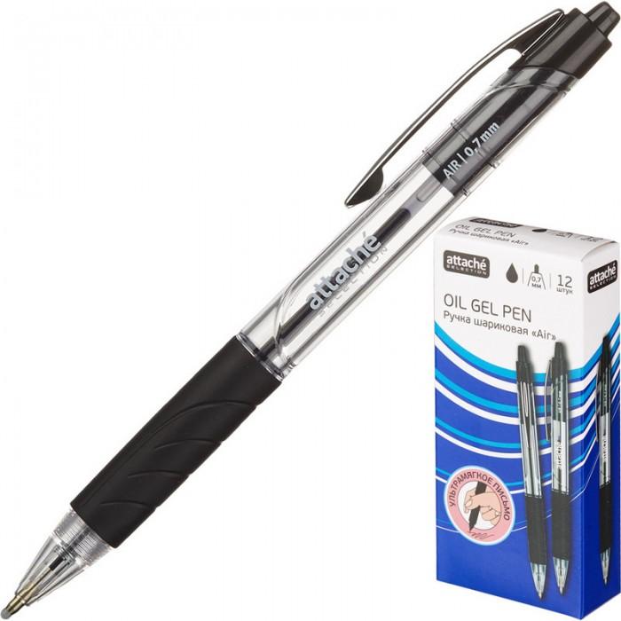 Канцелярия Attache Selection Ручка шариковая Air c манжеткой канцелярия lejoys ручка шариковая с колпачком в корпусе из бамбука черная 13 5 см