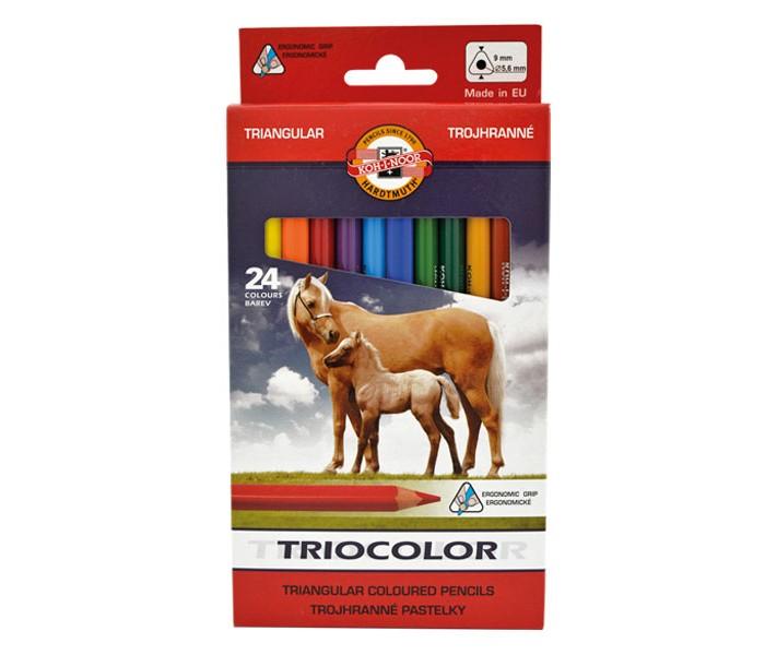 цена на Карандаши, восковые мелки, пастель Koh-i-Noor Набор карандашей цветных Jumbo 24 цвета