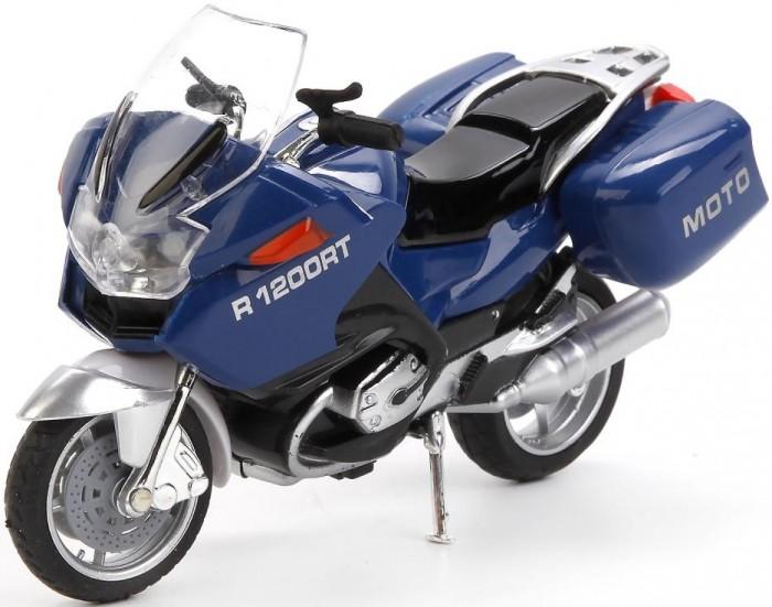 Машины Технопарк Мотоцикл металлический со светом и звуком Туризм 12.5 см