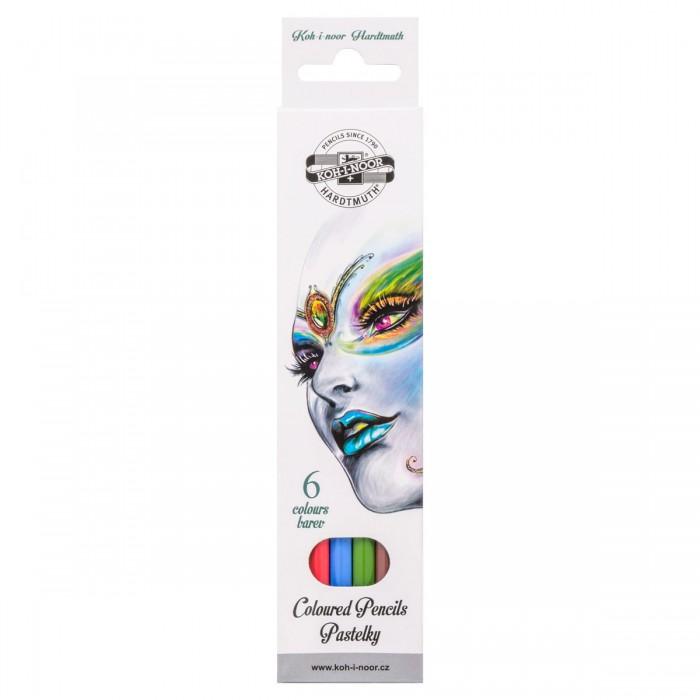 Карандаши, восковые мелки, пастель Koh-i-Noor Набор карандашей цветных Фантазия 6 цветов набор цветных карандашей феникс лошадь 32869 деревянные 6 шт
