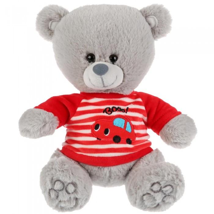 Купить Мягкие игрушки, Мягкая игрушка Мульти-пульти Медведь в футболочке с машинкой 22 см