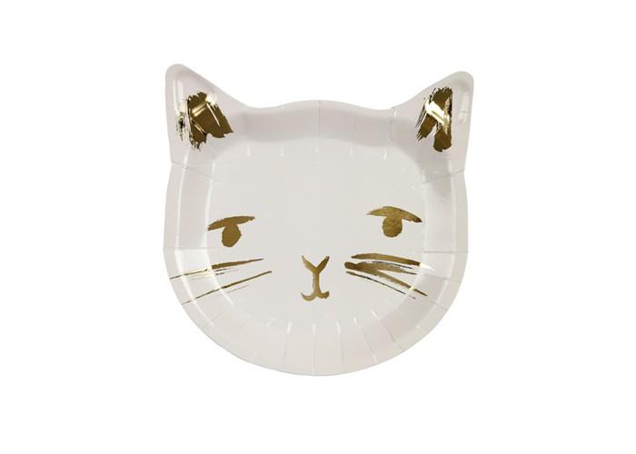 Товары для праздника MeriMeri Тарелки маленькие Кошечка 20 шт.