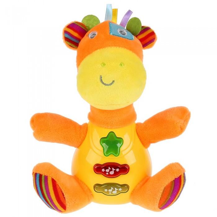 Купить Мягкие игрушки, Мягкая игрушка Умка плюшевая Музыкальный жираф