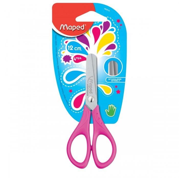 Канцелярия Maped Ножницы Start симметричные 12 см ножницы детские sensoft для левшей 13 см цвет красный желтый